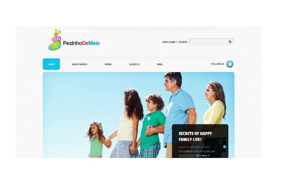 Entri Kontes #77 untukLogo Design for Pezinho de Meia (Baby Socks in portuguese)