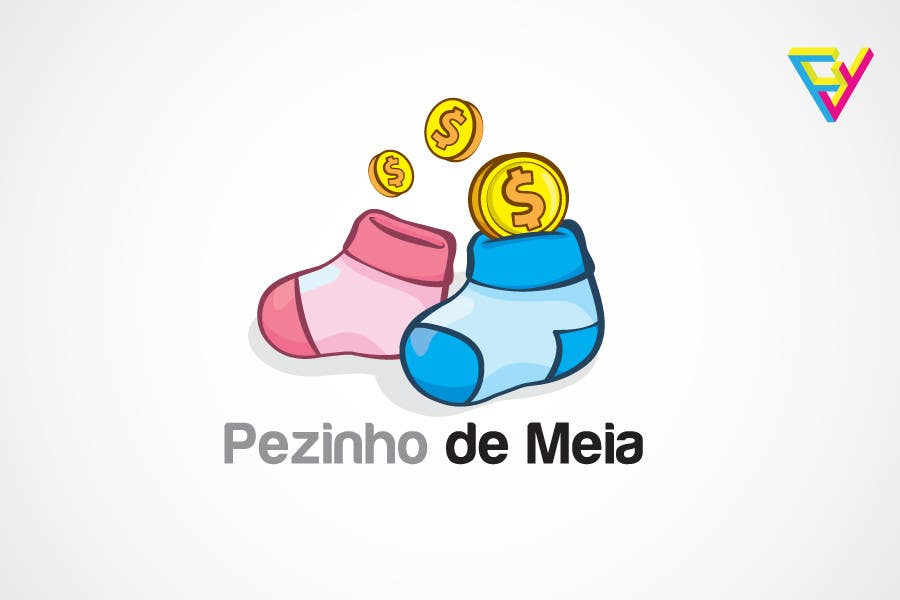 Entri Kontes #131 untukLogo Design for Pezinho de Meia (Baby Socks in portuguese)