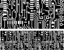 """Nro 8 kilpailuun Design an """"electronic schematic"""" styled pattern käyttäjältä unsoftmanbox"""