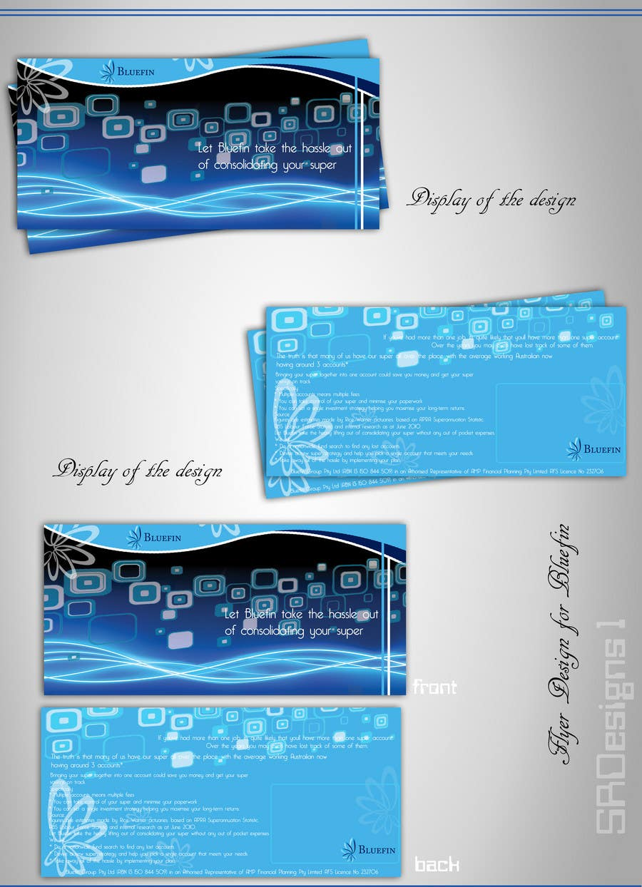 Contest Entry #25 for Flyer Design for Bluefin