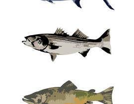 Eugenya tarafından Illustrate 3 species of fish to be used for embroidery için no 2