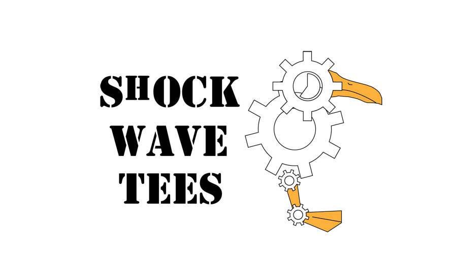 Inscrição nº                                         158                                      do Concurso para                                         Logo Design for T-Shirt Company.  ShockWave Tees