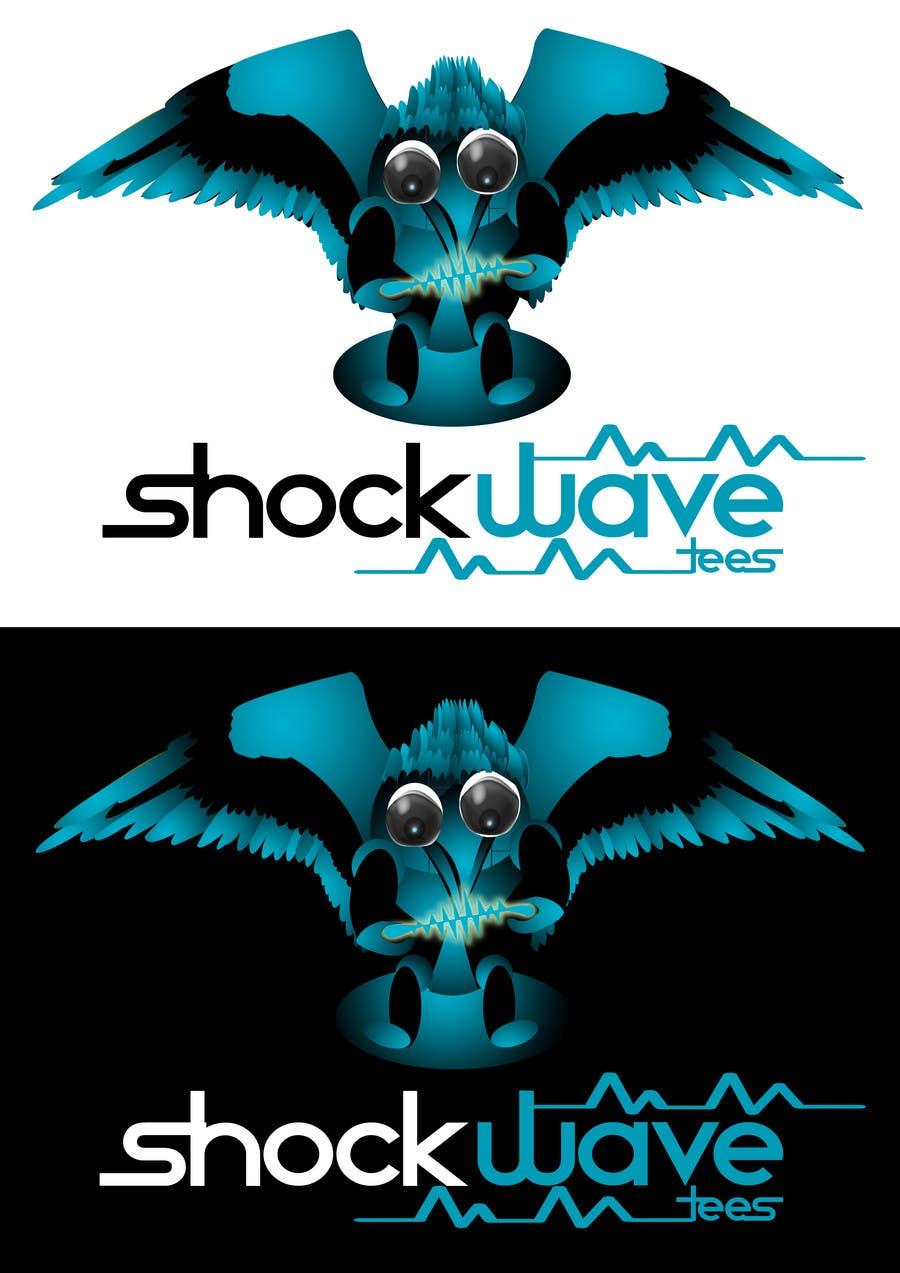 Penyertaan Peraduan #124 untuk Logo Design for T-Shirt Company.  ShockWave Tees