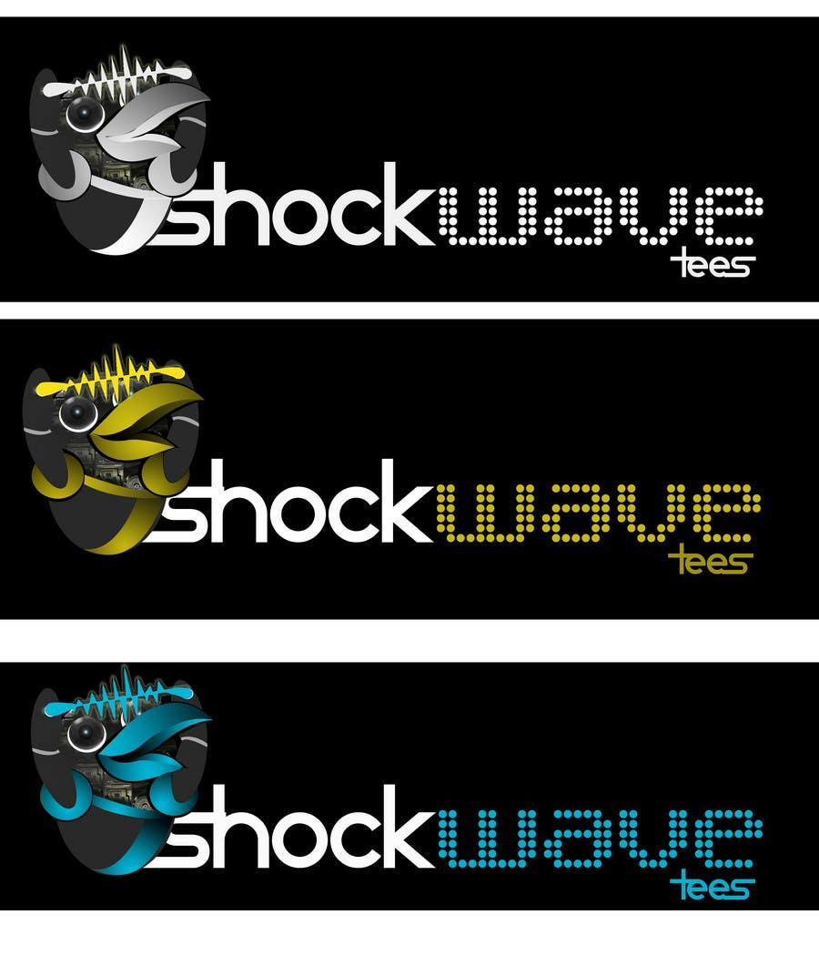Inscrição nº                                         90                                      do Concurso para                                         Logo Design for T-Shirt Company.  ShockWave Tees