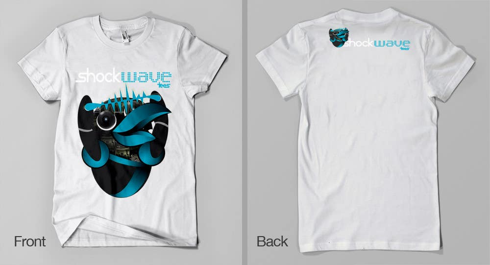 #93 for Logo Design for T-Shirt Company.  ShockWave Tees by xcerlow