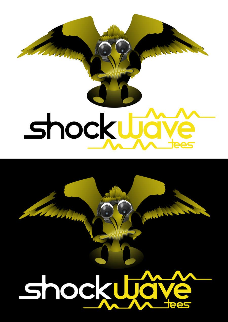 Inscrição nº 123 do Concurso para Logo Design for T-Shirt Company.  ShockWave Tees
