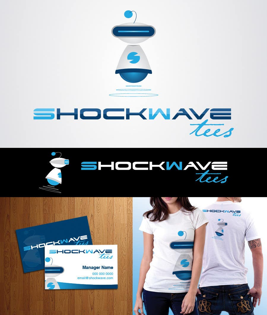 #56 for Logo Design for T-Shirt Company.  ShockWave Tees by AcidicSubstance