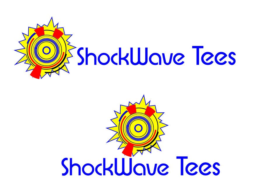 Inscrição nº                                         81                                      do Concurso para                                         Logo Design for T-Shirt Company.  ShockWave Tees