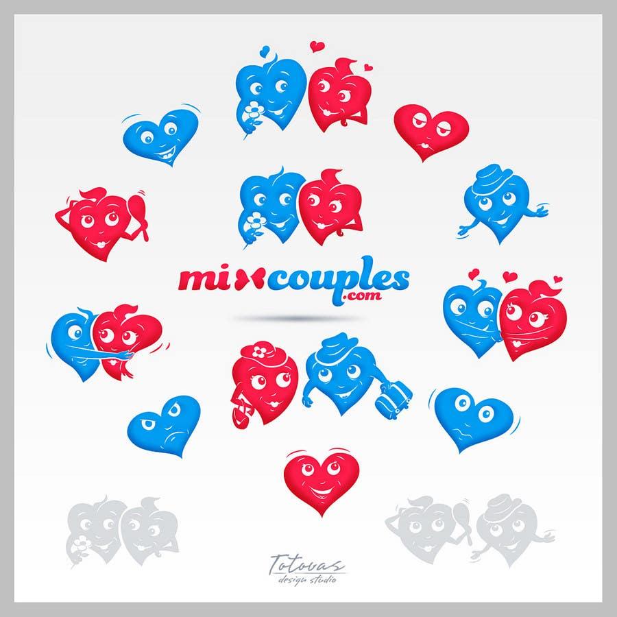 Inscrição nº                                         711                                      do Concurso para                                         Logo Design for mixcouples.com