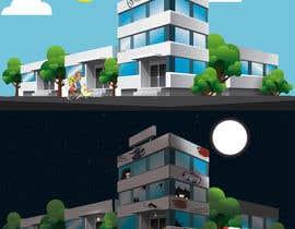 TEHNORIENT tarafından Illustrate a building with two different scenarios.... Unoccupied & Occupied için no 5