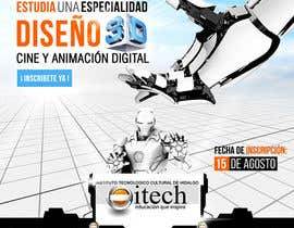 #35 for Diseña un flyer para el posgrado en diseño 3d, cine y animación digital by corradoenlaweb