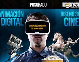 wchector tarafından Diseña un flyer para el posgrado en diseño 3d, cine y animación digital için no 17