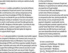 MasoomBadi tarafından Whats should I use to upgrade my website WordPress,Joomla or Drupal için no 3