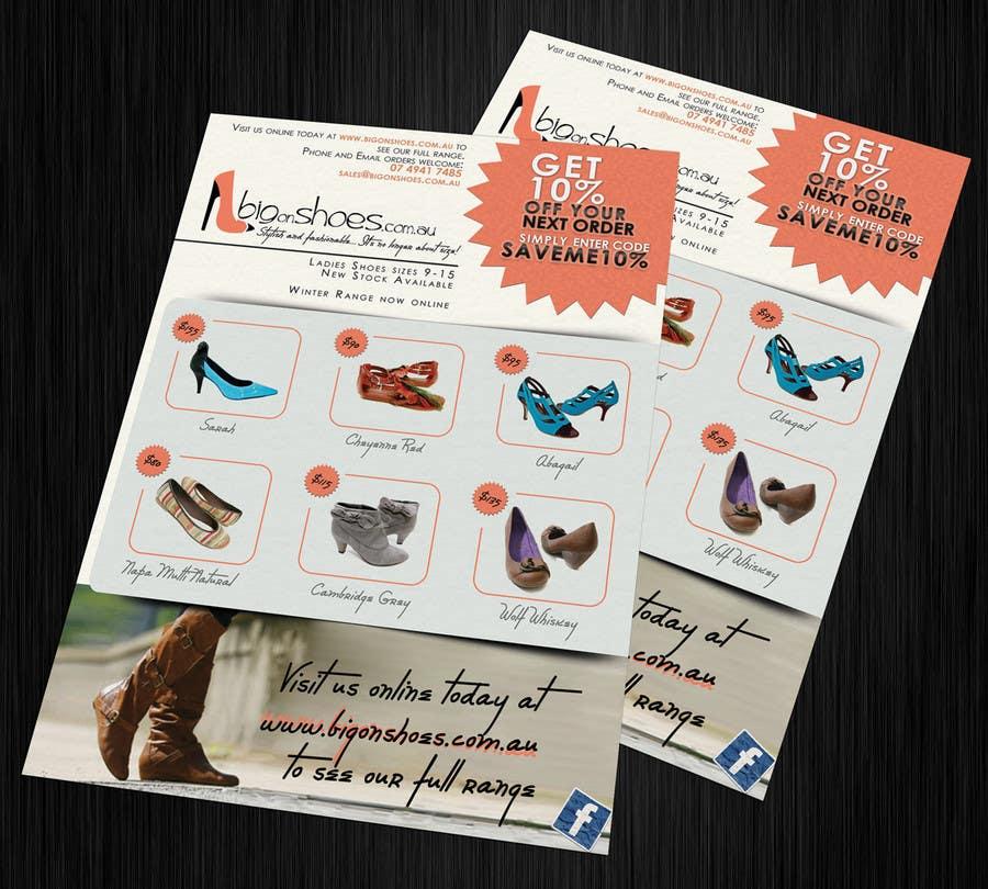 Конкурсная заявка №35 для Brochure Design for Big On Shoes- Online Shoe Retailer