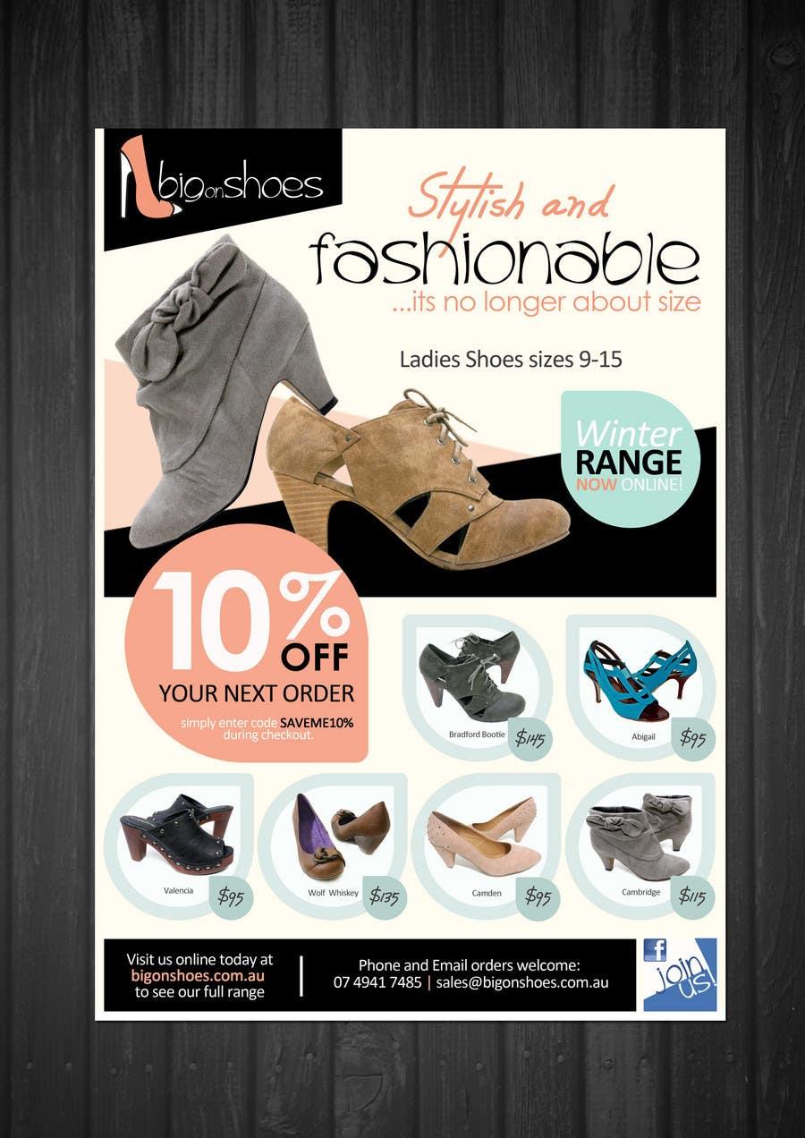Конкурсная заявка №120 для Brochure Design for Big On Shoes- Online Shoe Retailer