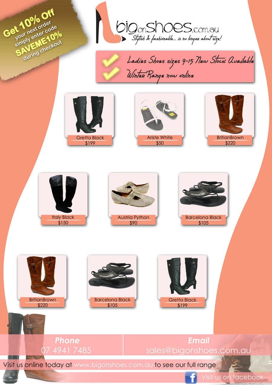Inscrição nº                                         48                                      do Concurso para                                         Brochure Design for Big On Shoes- Online Shoe Retailer