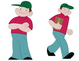 #17 para 2 vector cartoons of a young delivery boy por TimSlater