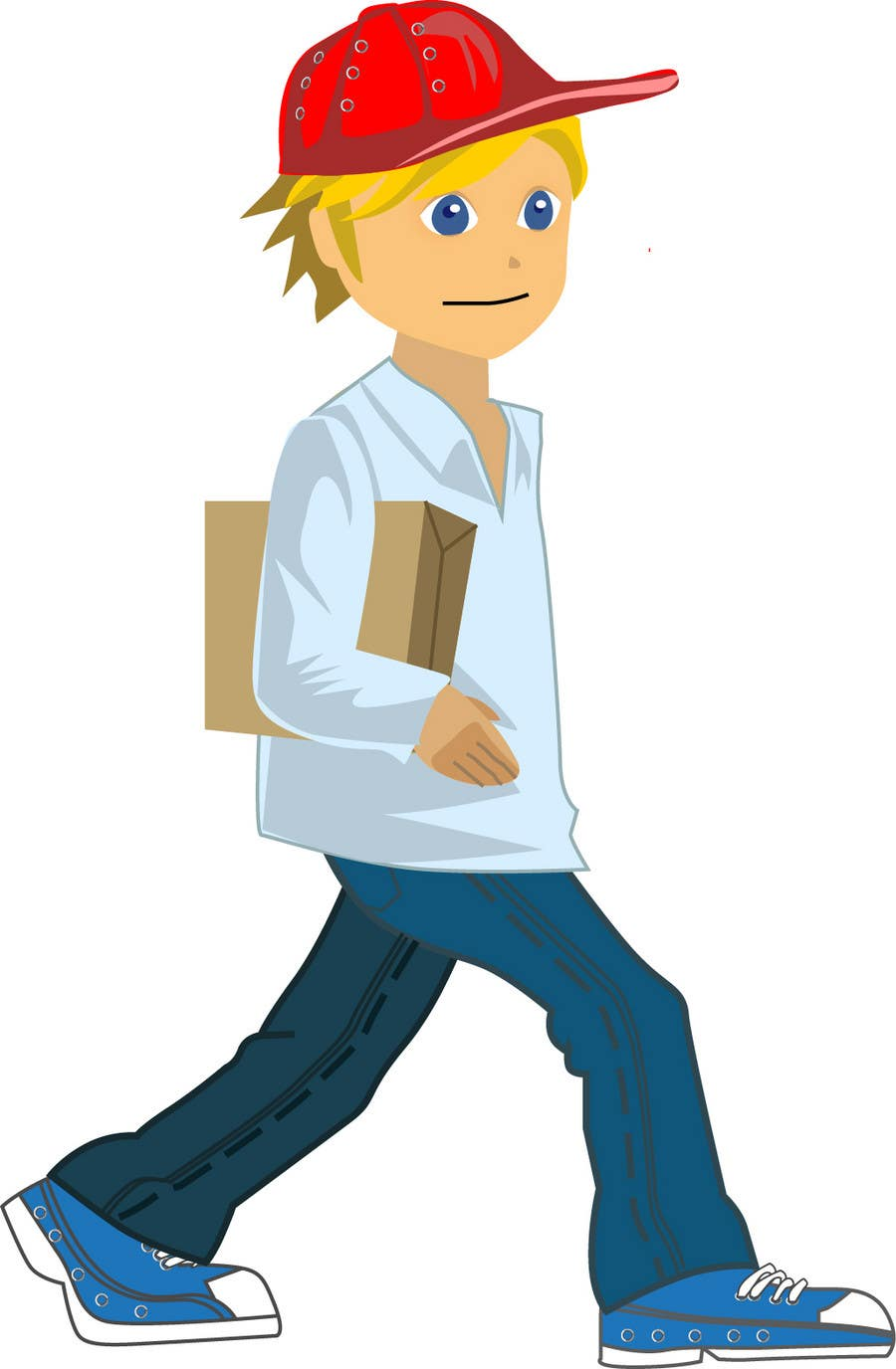 Contest Entry #                                        6                                      for                                         2 vector cartoons of a young delivery boy