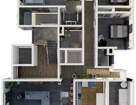 #24 para Apartment unit interior 3d design de reem1794