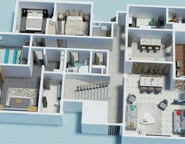 #14 para Apartment unit interior 3d design de bminfographie3D