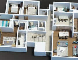#17 para Apartment unit interior 3d design de bminfographie3D
