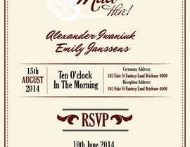 Nro 1 kilpailuun Tea Party Wedding Invitation Alice in Wonderland - Urgent käyttäjältä lukeoliver