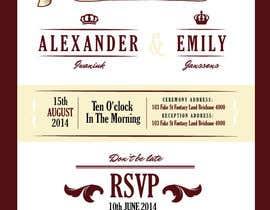 Nro 4 kilpailuun Tea Party Wedding Invitation Alice in Wonderland - Urgent käyttäjältä lukeoliver