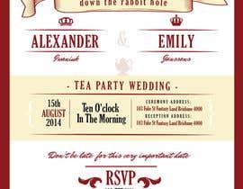Nro 11 kilpailuun Tea Party Wedding Invitation Alice in Wonderland - Urgent käyttäjältä lukeoliver