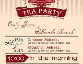 Nro 9 kilpailuun Tea Party Wedding Invitation Alice in Wonderland - Urgent käyttäjältä har430