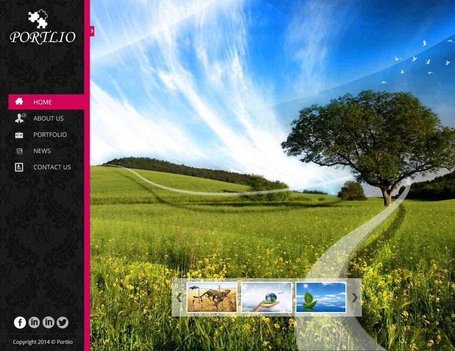 #27 for Design a Website Mockup for Portfolio by creativedesign06