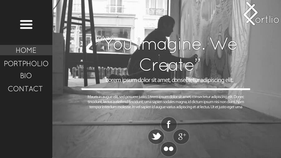 #10 for Design a Website Mockup for Portfolio by Kiraken