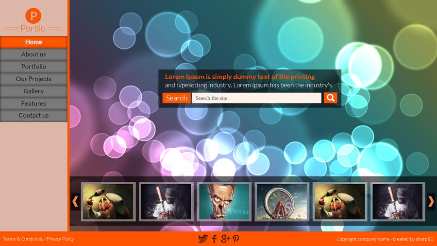 #13 for Design a Website Mockup for Portfolio by sharpBD