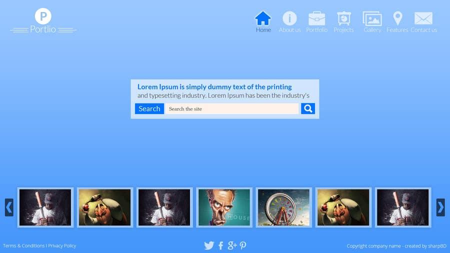 #16 for Design a Website Mockup for Portfolio by sharpBD