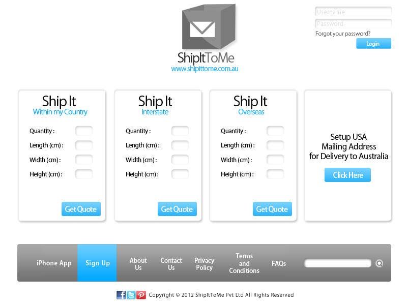 Proposition n°                                        32                                      du concours                                         Graphic Design for ShipItToMe - Logo, Business Card & HomePage Design