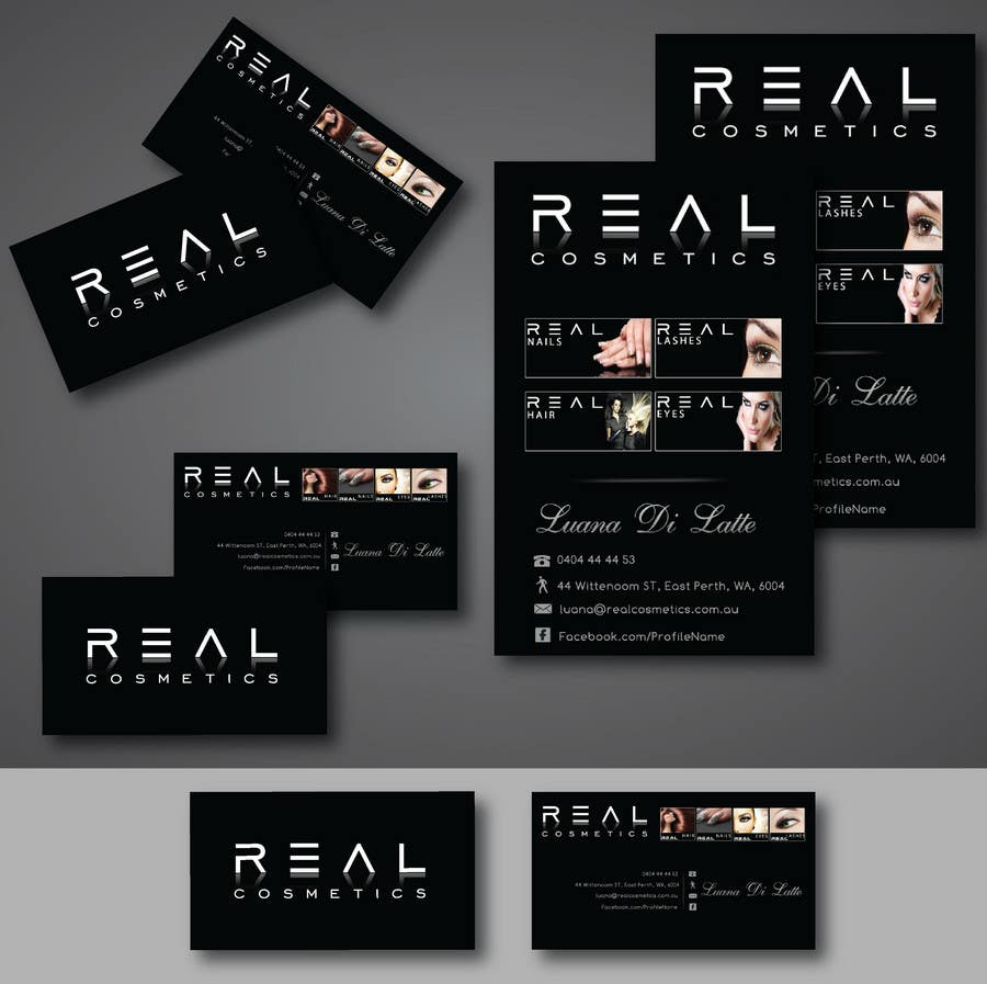 Contest Entry #                                        119                                      for                                         Business Card Design for Real Cosmetics