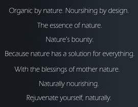 Write a tag line/slogan for a company selling natural skin