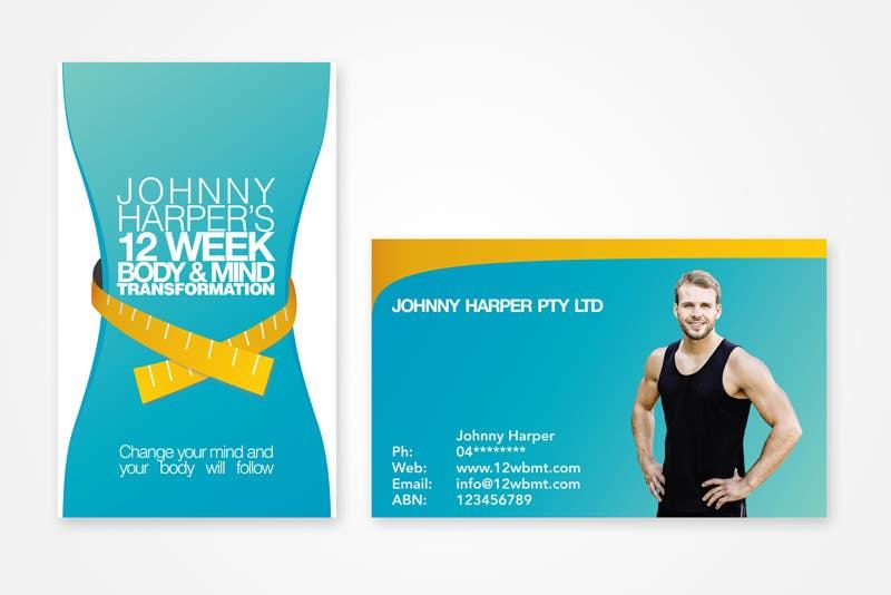 Inscrição nº 7 do Concurso para Business Card Design for Johnny Harper's 12 Week Body & Mind Transformation