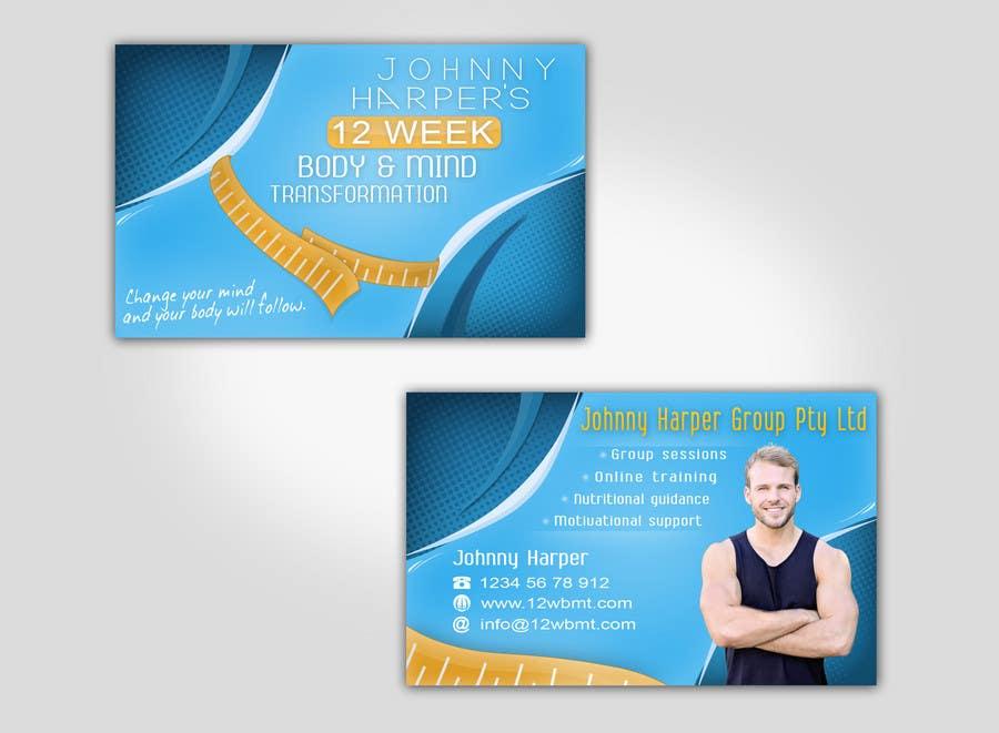 Inscrição nº 39 do Concurso para Business Card Design for Johnny Harper's 12 Week Body & Mind Transformation