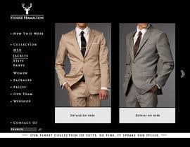 succinct tarafından Design a Website Mockup for a stylish bespoke fashion brand için no 76