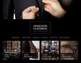 salutyte tarafından Design a Website Mockup for a stylish bespoke fashion brand için no 62