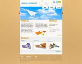 #10 for Design a Wordpress-Template for a paperplane website af zlostur