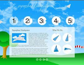 #17 for Design a Wordpress-Template for a paperplane website af kitty100