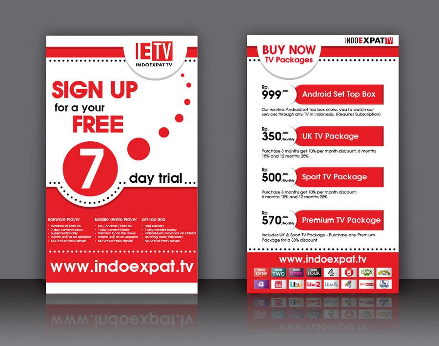 #18 for Design a Flyer for IPTV Company by tiencm1991