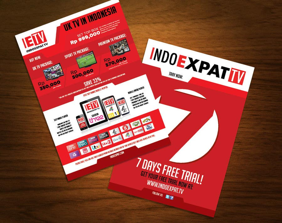 #16 for Design a Flyer for IPTV Company by igorprole