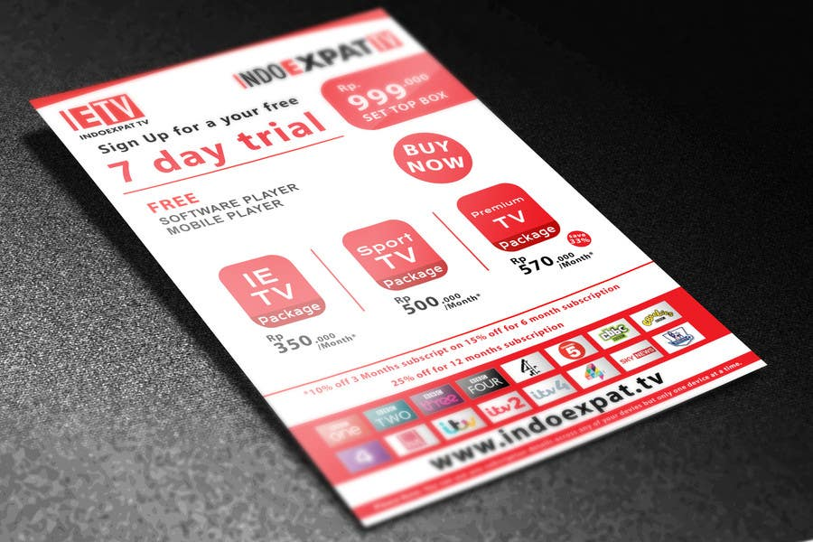 #14 for Design a Flyer for IPTV Company by niyajahmad