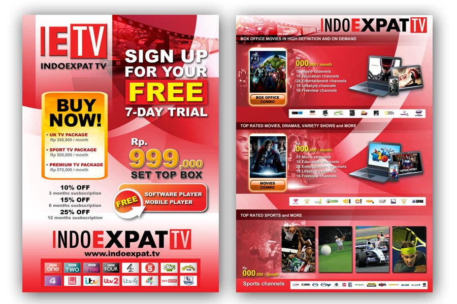#17 for Design a Flyer for IPTV Company by jerry24