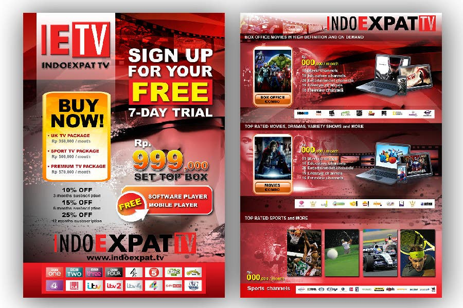 #20 for Design a Flyer for IPTV Company by jerry24