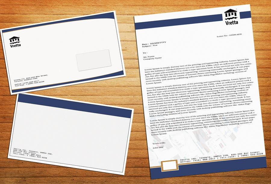 Penyertaan Peraduan #                                        12                                      untuk                                         Design a template for our letters and envelopes