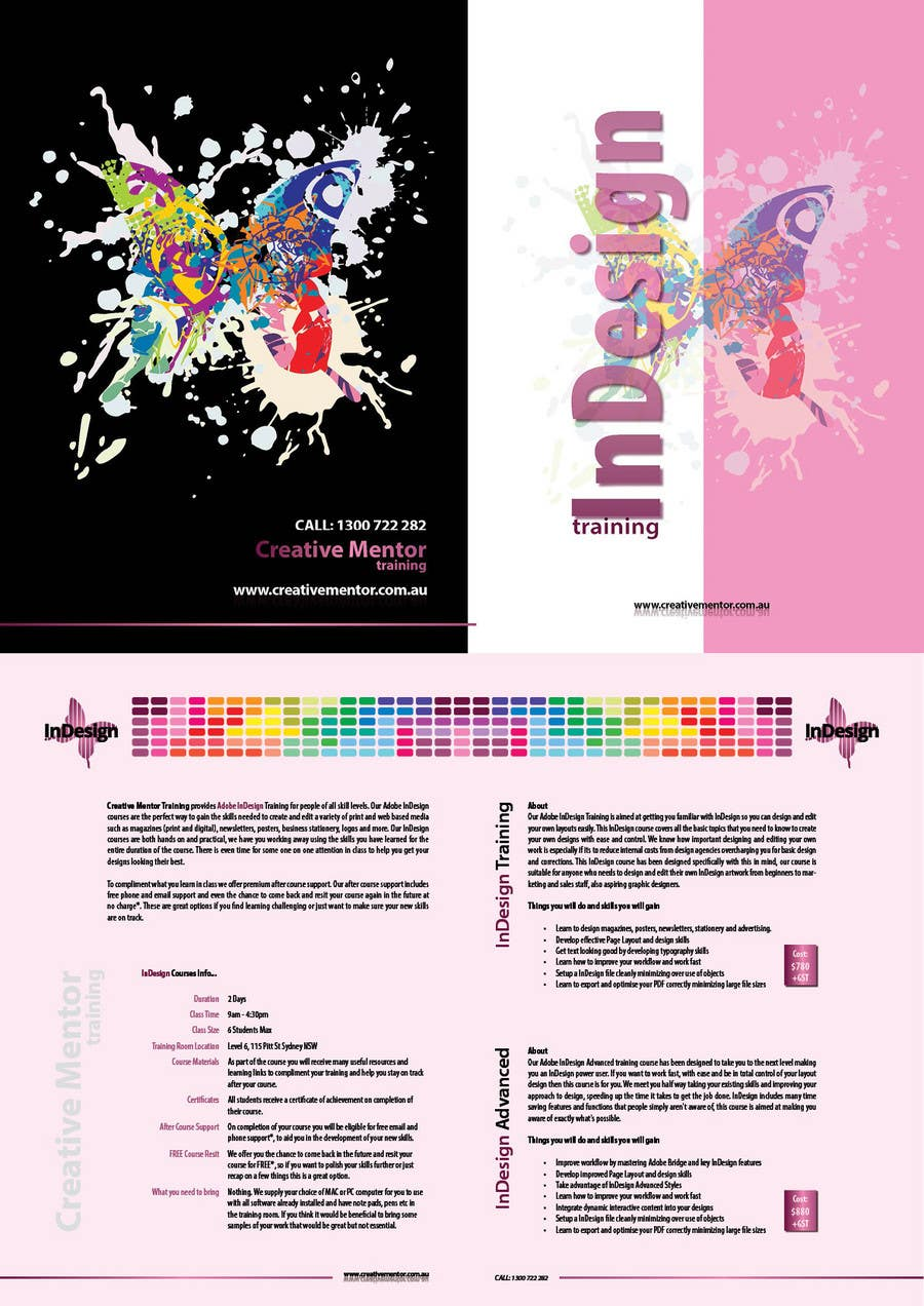 Конкурсная заявка №9 для Brochure Design for Creative Mentor Training