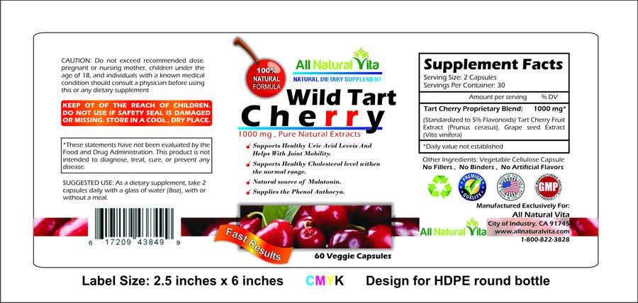 Proposition n°                                        11                                      du concours                                         Design a supplement Bottle Label for All Natural Vita